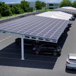 Hybrid PV Structures Solar Car Park Render