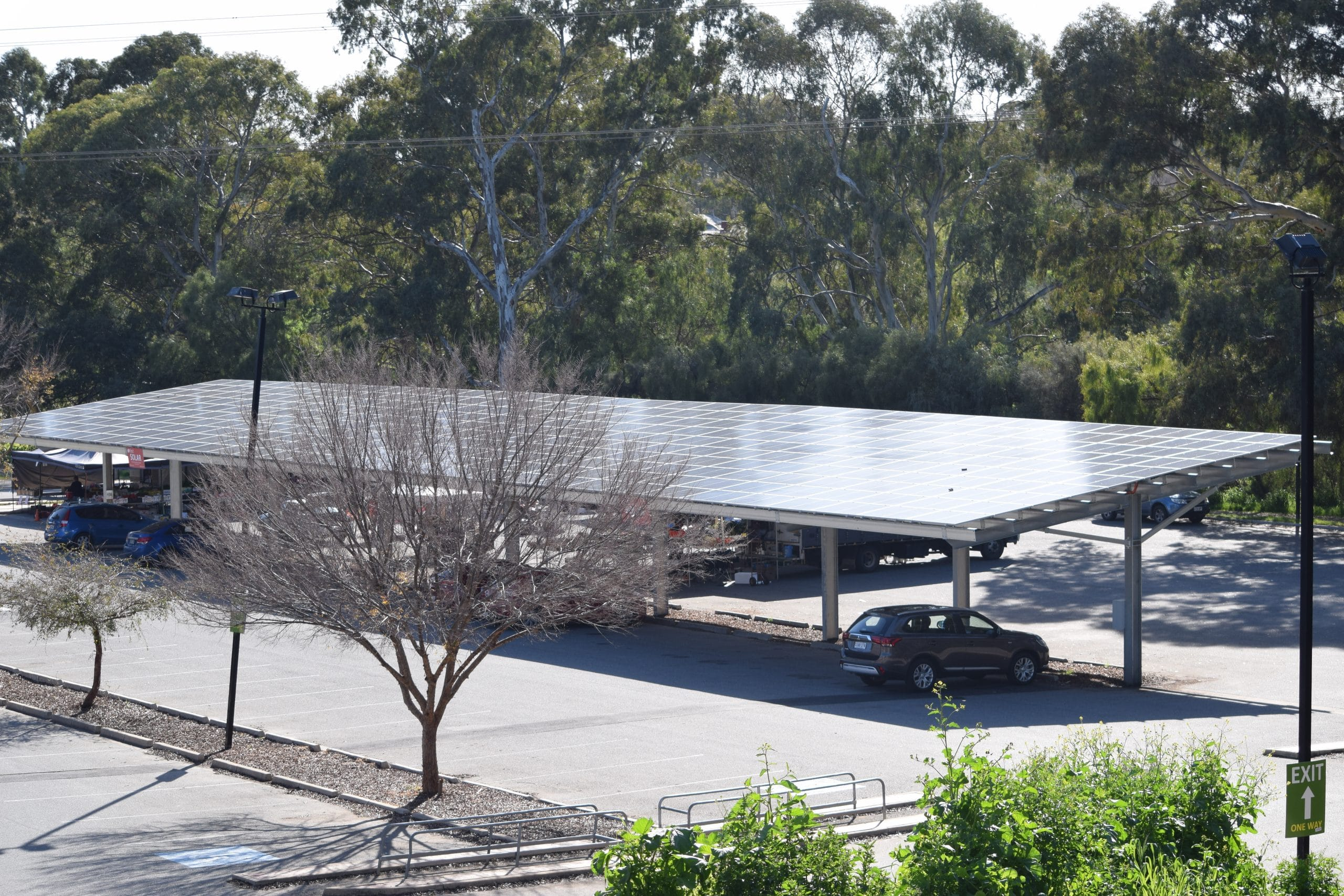Old Spot Solar Car Park Shade Structure