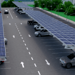 PV Structures Solar Car Park Render