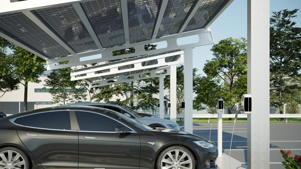 Solar Powered EV Charge Station