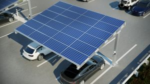 Solar vehicle charging station commercial