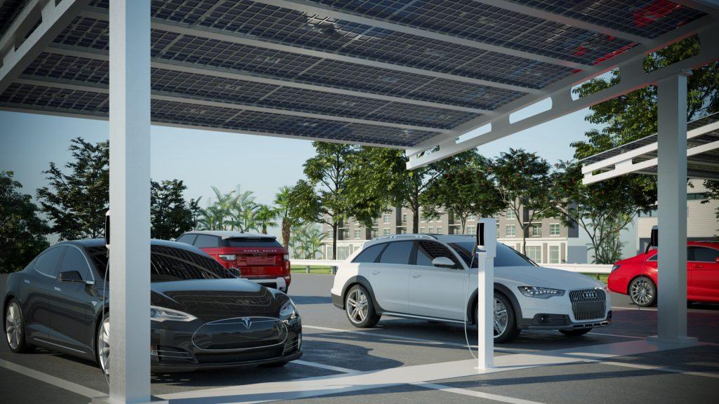 solar ev charge station