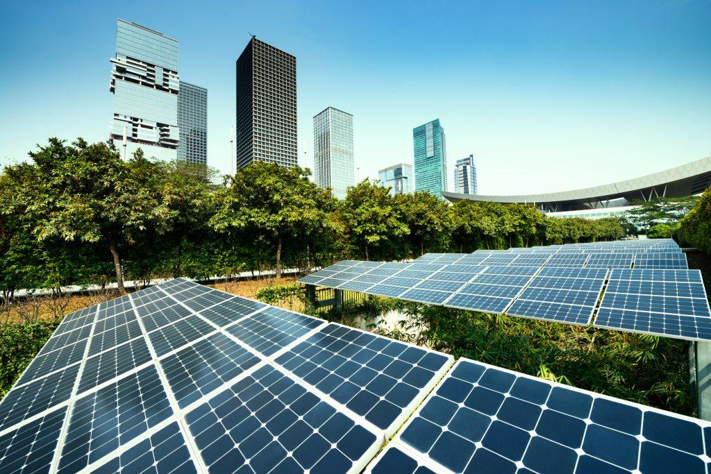 VPP solar panels in a city